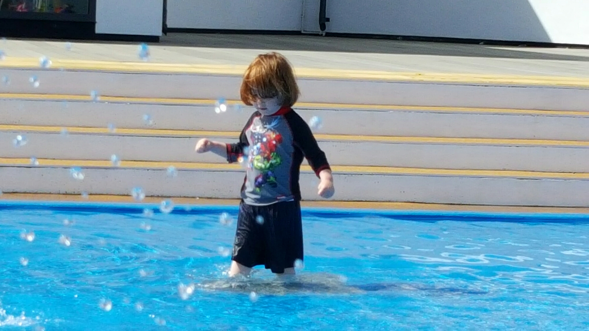 First steps in the water
